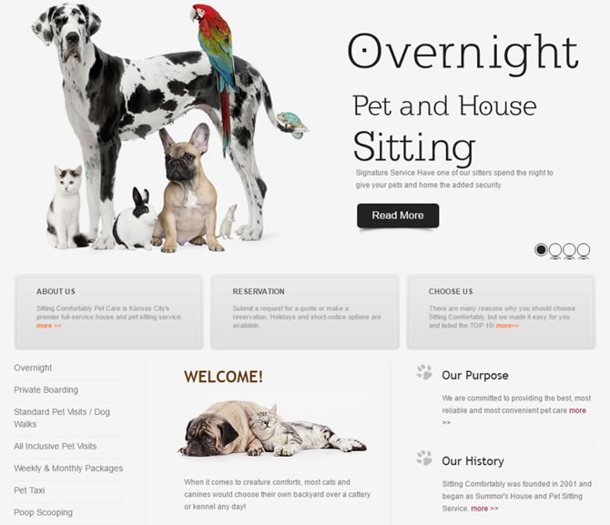 Sitting Comfortably Pet Care